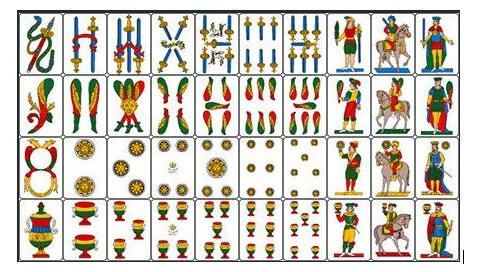 7 e mezzo for Due di bastoni carte napoletane